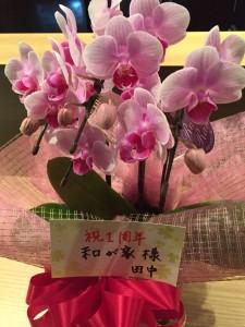 1周年 お花
